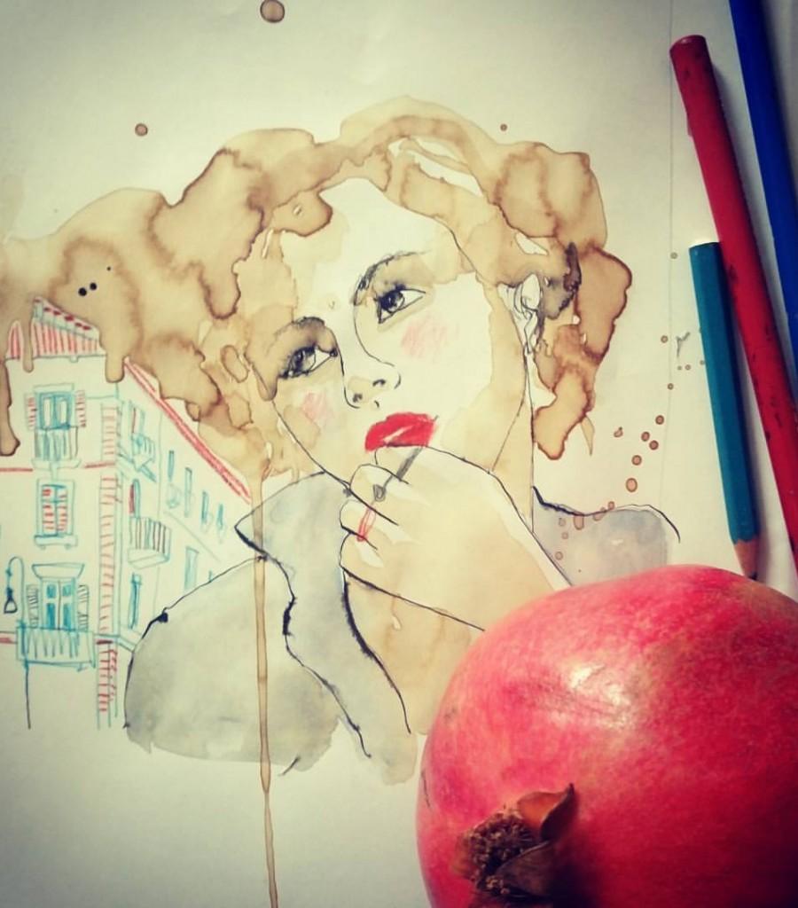 Rosso Melograno::selfportrait