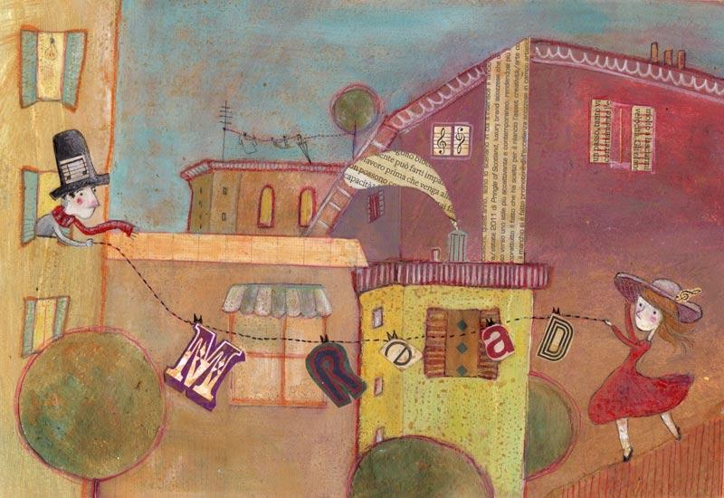 Dream_acrilico, pastelli, collage su carta_2011