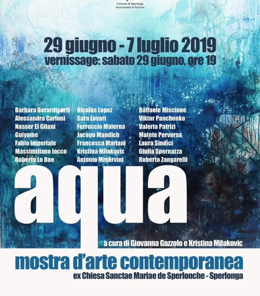 AQUA-mostra collettiva-estate 2019, Sperlonga