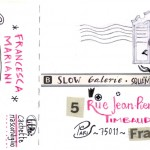 CACHETTE//back_illustrative postcard for SLOW GALERIE_Paris