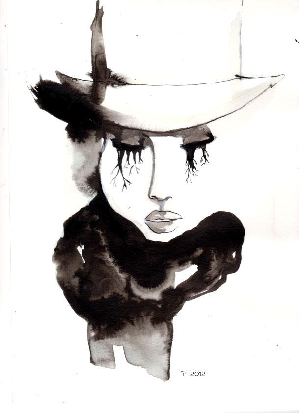femme onirique #2_ ink on paper_2012