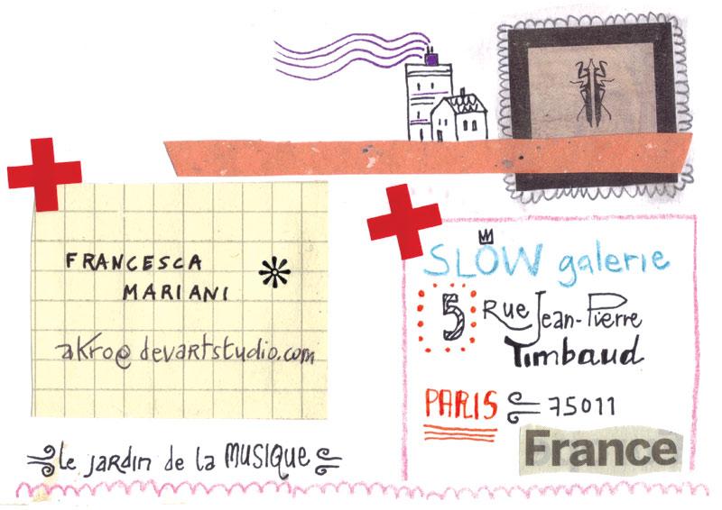 LE JARDIN DE LA MUSIQUE//back_illustrative postcard for SLOW GALERIE_Paris