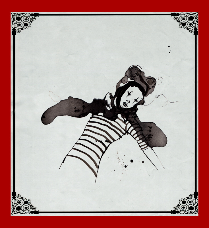 my circus_black ink & digital frame_2011