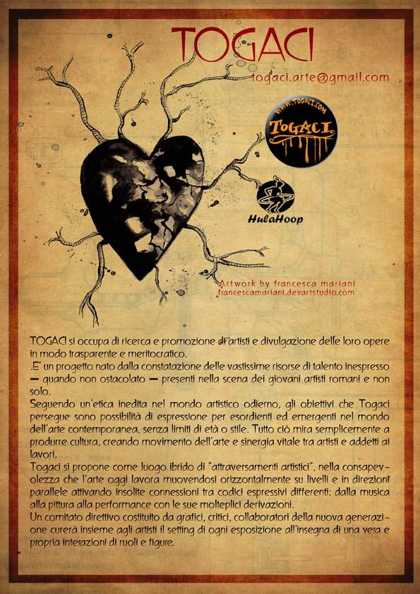 flyer progetto TOGACI arte