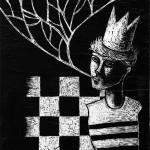 il re degli scacchi_handmade scratchboard on wood_2013.jpg