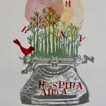 incisione su linoleum&timbri_stampa su carta_2013