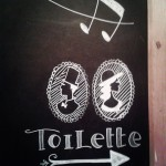 BDF toilette blackboard - Bar del Fico, Roma