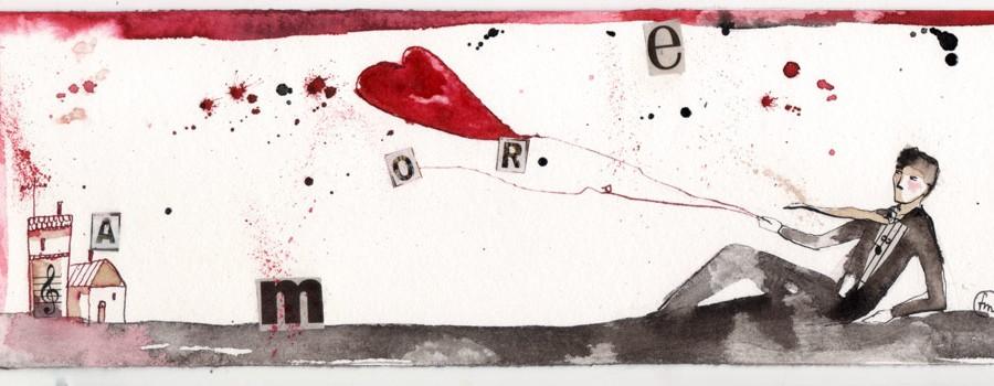 lui__china, ecoline, caffè, collage su carta*CelluloideOfficina dell'immagine*