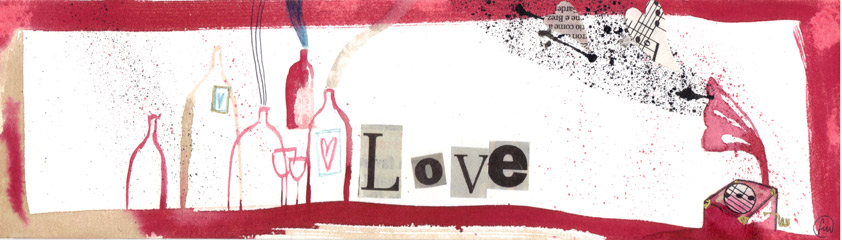 love_china, ecoline, caffè e collage su carta*CelluloideOfficina dell'immagine*