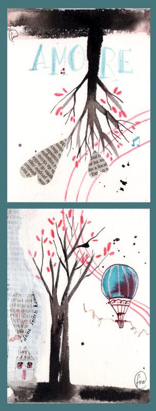 albero_dittico_china, ecoline, pastello e collage su carta*CelluloideOfficina dell'immagine*