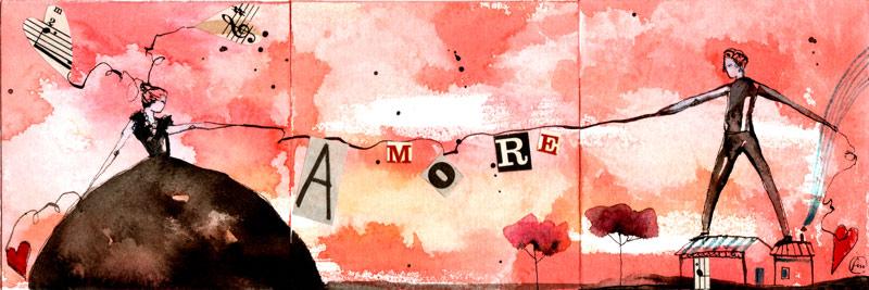 AMORE_tris_china ecoline collage su carta*CelluloideOfficina dell'immagine*