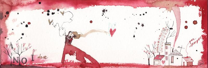 abbraccio_china, ecoline, collage su carta*CelluloideOfficina dell'immagine*