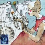 Roma - donna accovacciata