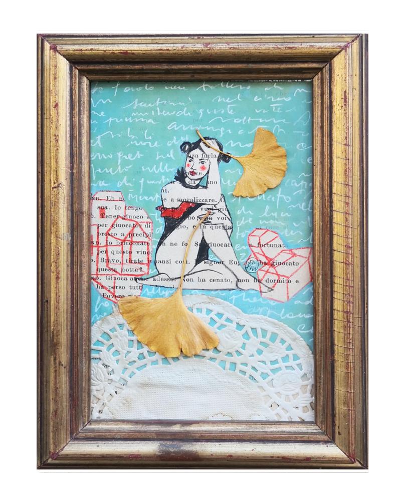 acrobata con ginki . 15,5x20,5 cm