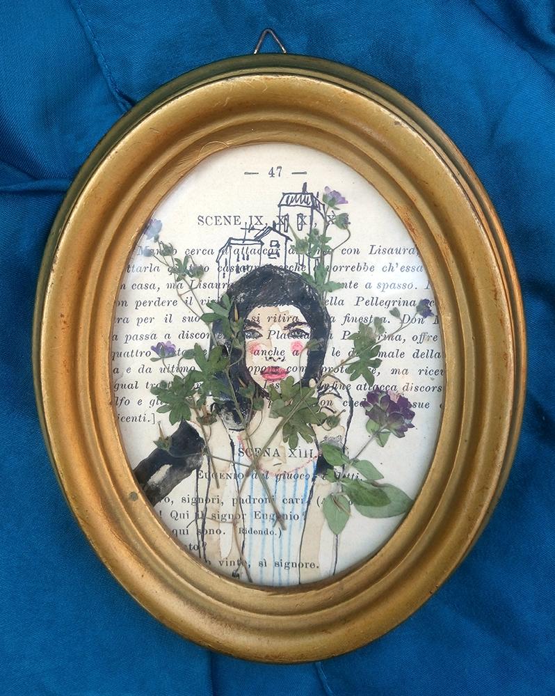 bimba coi fiori in testa/sold