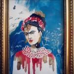 """:: F R I D A Kahlo :: """"La vita scorre e apre sentieri che non si percorrono invano""""/SOLD"""