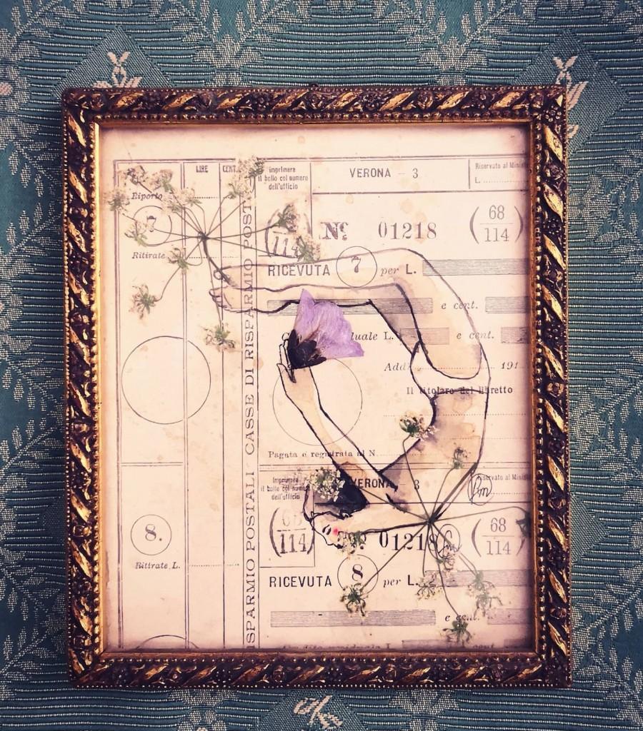 il tuffatore . 13x15,5 cm /sold