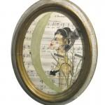 Margine ardente . 16,5x20,5cm /sold