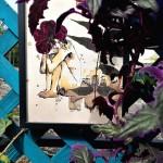 """Gynura aurantica ''purple passion'' di velluto porporino e dal portamento espanso veste l'opera """"La mia vita è bellissima e tremante, limpida e introvabile, sparsa e raccolta. Mi combatte e mi difende"""""""