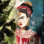 """dalle parole di Frida Kahlo ''la vita scorre e apre sentieri che non si percorrono invano"""" una vertigine a spirale che punta al blu."""